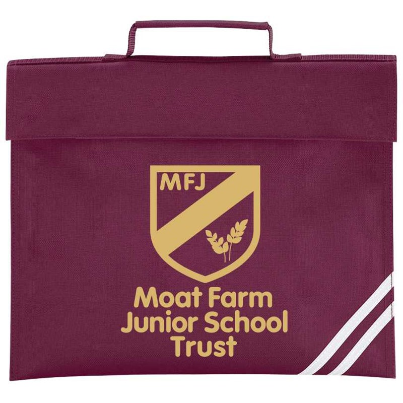 Book Bag printed with Moat Farm logo